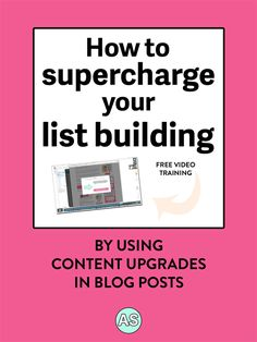 Have you been doing all the right things to build your email list, and it's still taking forever? Try using content upgrades in your blog posts! Click here to learn how Ashley Srokosz, Registered Holistic Nutritionist, used content upgrades on her website to supercharge her list building, leading to over $3,000 in sales of her latest online course (without launching!). PLUS there's a video tutorial showing you how to set them up. This is perfect for holistic nutritionists, health...