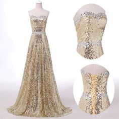 2016 Sequin Prom Party Bridesmaid Masquerade Gown Evening Long Formal Dresses Us