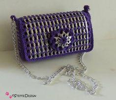 pop tab purse crochet pattern English