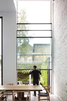 The architects' previous London projects include a plywood-lined loft extension and a full-width brick and glass addition to a 19th-century house – they were tasked with renovating and extending this home to create more generous spaces.
