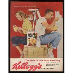 Vintage Ad for Kelloggs Corn Flakes - 1960 Old Advertisements, Retro Advertising, Retro Ads, Vintage Ads, Vintage Posters, Cartoon Tv Shows, Corn Flakes, Vintage Scrapbook, Ad Design
