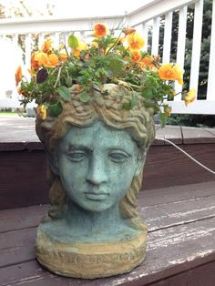 Head with plants