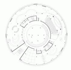 Gallery of Alesia Museum / Bernard Tschumi Architects - 11 Museum Architecture, Architecture Drawings, School Architecture, Architecture Plan, Bernard Tschumi, Exhibition Plan, Museum Plan, Round Building, Architectural Association