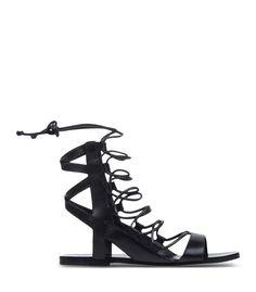 Belle By Sigerson Morrison Black Strappy Sandal