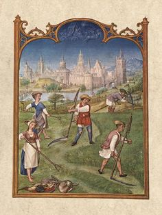The Month of June from the Grimani Breviary by an unknown Flemish Miniaturist (active 1490-1510 in Flanders)