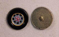 "Set of 6 JHB Gold Round Metal Buttons Car Tire & Wheel 1"" 25 mm lyk0049 #JHB #buttonlovers"