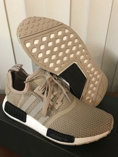 551f72f42 ADIDAS NMD R1 AC8503 Talc Euro Release Only Womens Size 7.5 US 100%  Authentic