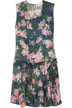 Borne By Elise Berger Hermine floral-print silk dress - 0% Off Now at THE OUTNET