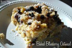 Baked Blueberry Oatmeal for #breakfast from Lemon Tree Dwelling