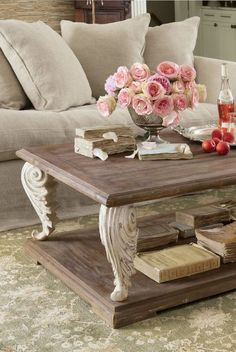 Distressed Ionic Capital Coffee Table. See More. Acanthus Coffee Table From  Soft Surroundings