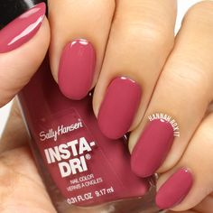 So many mauves, so little time. Go for Expresso from Insta-Dri for a beautiful summer nail shade that dries in 60 seconds. Photo: Hannah Rox It.