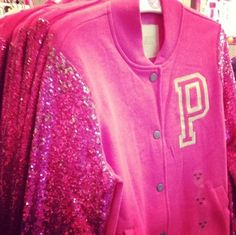 VS Pink Varsity Jacket. Sold out within days.