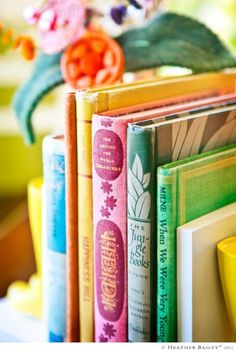 Colorful book grouping