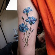 Time for flower ;) #cornflower #cornflowertattoo #tattoo #tattoos…