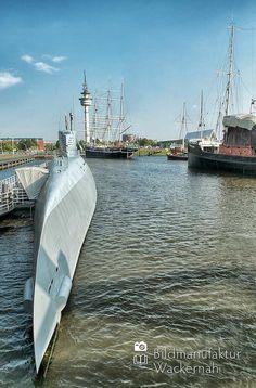 awesome Fotografie »U-Boot Wilhelm Bauer @ Bremerhaven 10«,  #Bremerhaven #Hafenbilder #Stadtansichten