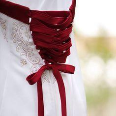 Corset wedding dress.