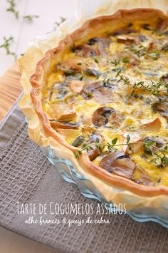 Quiches, Love Food, Pie, Food And Drink, Cooking, Breakfast, Desserts, Kitchen, Baked Mushrooms