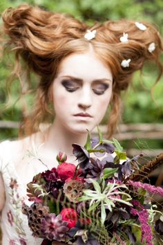 Joanne Fleming Design: The Knot Garden: Flowers; Jay Archer Floral Design Hair and make-up; Kasia Fortuna