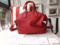Spring 2016 Givenchy Collection Outlet-Givenchy Nightingale Bag in Cherry Togo Leather