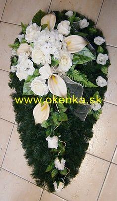 Pohrebná služba Okenka | Nitra - FOTOGALÉRIA - Vence z umelých kvetov Funeral Flowers, Ikebana, Flower Arrangements, Floral Wreath, Wreaths, Plants, Home Decor, Florists, Original Gifts