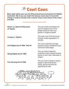 Civil rights leaders, Civil rights and Worksheets on Pinterest
