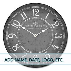 large wall clock 30'' $149
