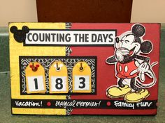 I made this countdown calendar for our Disney vacation. We can use it over and over.  °o°