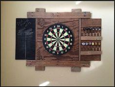 Dart board made of old pallet wood. …   Pinteres…
