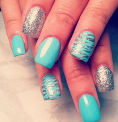 glitter and turquoise