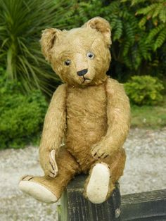 Very rare cinnamon coloured antique German Bing bear. c.1920s - 1930s.  View our bears at www.oldteddybeashop.co.uk