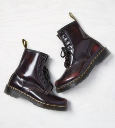 Red Dr. Martens 1460 Boot