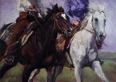 Jill Soukup has made a name for herself as a well-known Western painter. In our interview, we talk to the artist about Equine, a series of horse paintings. Animal Paintings, Animal Drawings, Horse Paintings, Drawing Animals, Oil Paintings, Horse Drawings, Buffalo Painting, Courses Hippiques, Horse Oil Painting
