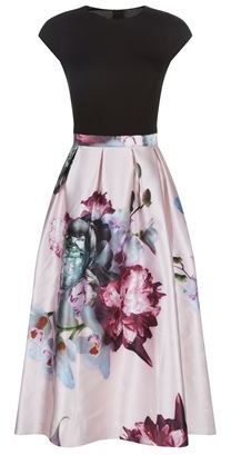 Ted Baker Ethereal Posie Contrast Dress