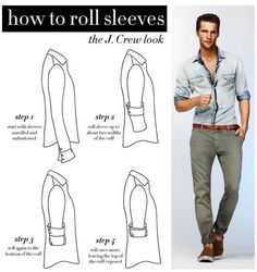 mywebroom blog looksgud male fashion roll sleeves style infographic