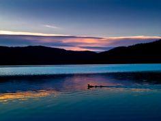 Sunrise at Ashley Lake, Montana