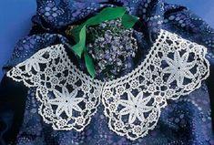 Fundstück Spitzenkragen Häkeln Häkelkragen Pinterest Crochet