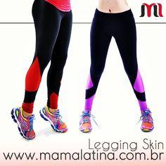 Legging Skin Mama Latina ® simplesmente arrasando!  Linda e confortável para looks esportivos ou casuais  Garanta a sua pelo site www.mamalatina.com.br.  Corre que o preço tá lindao  Beeeijos Pessoal!