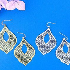 Online Shopping For LAVISHY Unique And Beautiful Filigree Earrings – LAVISHY Boutique Filigree Earrings, Gold Plated Earrings, Pendant Earrings, Flower Earrings, Silver Earrings, Crochet Earrings, Gift Shops, Clothing Boutiques, Fashion Accessories