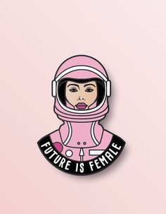 Woman's March Pin  Feminist pin  Future is Female