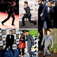 jeremy renner- oh so much lunging!  HAHAHAH!!!  @Laura Jayson Jayson Pinchot