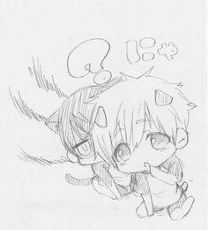 Neko Haru and puppy Makoto // Free!