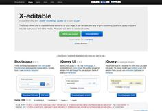 X-editable - Via http://www.themangomedia.com/blog/the-quintessential-guide-to-bootstrap-and-its-pros/ @teammangomedia