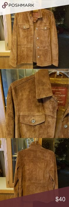 Seattle Suede Jacket Eddie Bauer Brown/Chestnut 100% Leather Suede Jacket Like New Condition Size M  Accepts reasonable offers Eddie Bauer Jackets & Coats
