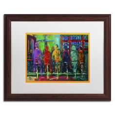 Devinville Diner by Lowell S.V. Devin Matted Framed Painting Print
