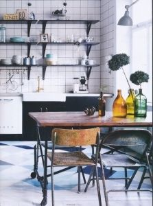 22 Beautiful Kitchen Flooring Ideas for Your New Kitchen Kitchen Interior, New Kitchen, Kitchen Dining, Kitchen Decor, Swedish Kitchen, Kitchen Black, Funky Kitchen, Eclectic Kitchen, Cozy Kitchen