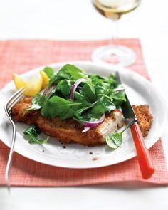 Chicken Milanese with Arugula Salad - Martha Stewart Recipes
