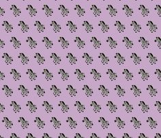 Sweet pastels african zebra safari cool trendy animals design for kids violet lilac for girls fabric - surface design by Little Smilemakers on Spoonflower - custom fabric and wallpaper inspiration for kids clothes fun fashion and trendy home decorations.