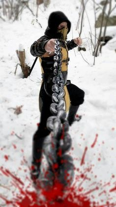 Get Over HERE! Scorpion from Mortal Kombat by Clay Stooshnoff: Stoosh Costuming & Cosplay.