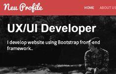 Neu free Web Designer Profile Responsive Web Template