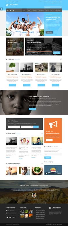 Charity Hub - Charity / Nonprofit / Fundraising WP on Behance